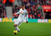 Saturday 10 November 2012<br /> Pictured: Pablo Hernandez of Swansea <br /> Re: Barclay's Premier League, Southampton FC v Swansea City FC at St Mary's Stadium, Southampton, UK.