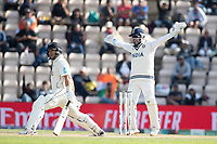Rishabh Pant, India appeals unsuccessfully  for LBW against Ross Taylor, New Zealand during India vs New Zealand, ICC World Test Championship Final Cricket at The Hampshire Bowl on 23rd June 2021