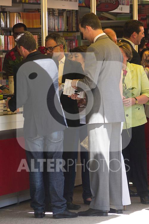 25.05.2012. Prince Felipe of Spain and Princess Letizia attend the inauguration of the Book Fair 2012 at the Retiro in Madrid. In the image Felipe de Borbon (Alterphotos/Marta Gonzalez)