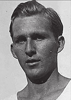BNPS.co.uk (01202) 558833. <br /> Pic: Pen&Sword/BNPS<br /> <br /> Pictured: Luz Long finished 2nd to Jesse Owens in the 1936 Olympic Games long jump competition. <br /> <br /> The tragic stories of almost 500 Olympians who were killed during World War Two have been revealed in a new book.<br /> <br /> While this year's Tokyo Olympics competitors are producing extraordinary feats in the sporting arena, these fallen Olympians displayed heroism of a different kind.<br /> <br /> Dozens died carrying out acts of gallantry in major battles including D-Day, while almost 60 Jewish participants perished in concentration camps during the Holocaust.
