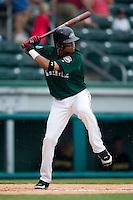 Greenville shortstop Argeniz Diaz (11) at bat versus West Virginia at West End Field in Greenville, SC, Sunday, July 1, 2007.