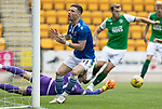 St Johnstone v Hibs……23.08.20   McDiarmid Park  SPFL<br />Michael O'Halloran reacts after Ofir Marciano stops the cross from  reaching him<br />Picture by Graeme Hart.<br />Copyright Perthshire Picture Agency<br />Tel: 01738 623350  Mobile: 07990 594431
