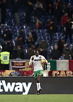 Football, Serie A: AS Roma - US Sassuolo, Olympic stadium, Rome, December 26, 2018. <br /> Sassuolo's Khouma Babacar celebrates after scoring during the Italian Serie A football match between Roma and Sassuolo at Rome's Olympic stadium, on December 26, 2018.<br /> UPDATE IMAGES PRESS/Isabella Bonotto