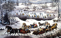New York:  Central Park in Winter.  Currier & Ives.