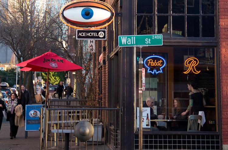Seattle, First Avenue, Belltown, Cyclops Restaurant,