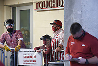 Image, Saturday, November 7, 2020 during a football game at Donald W. Reynolds Razorback Stadium in Fayetteville. Check out nwaonline.com/201108Daily/ for today's photo gallery. <br /> (NWA Democrat-Gazette/Charlie Kaijo)