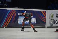 SPEEDSKATING: DORDRECHT: 05-03-2021, ISU World Short Track Speedskating Championships, Heats 500m Men, Steven Dubois (CAN), ©photo Martin de Jong