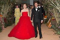 Beatrice et Pierre Casiraghi<br /> Bal de la Rose 2016 imagine par Karl Lagerfeld,Soiree Cuba donnee au profit de la Fondation Princesse Grace