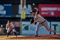 19 June 2018: Connecticut Tigers pitcher Drew Crosby on the mound against the Vermont Lake Monsters at Centennial Field in Burlington, Vermont. The Lake Monsters defeated the Tigers 5-4 in the rain-postponed conclusion of the Lake Monsters Opening Day game started June 18. Mandatory Credit: Ed Wolfstein Photo *** RAW (NEF) Image File Available ***