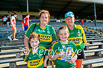 Nathan Moloney Murphy, Suzanne Moloney, Oisin Moloney Murphy and Annette O'Shea at the Munster final in Fitzgerald stadium on Sunday.