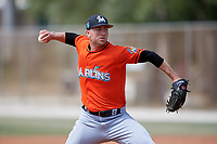 Miami Marlins pitcher Alex Wimmers (26) during a Minor League Spring Training Intrasquad game on March 27, 2018 at the Roger Dean Stadium Complex in Jupiter, Florida.  (Mike Janes/Four Seam Images)