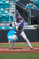 Michael Goehrig (10) of the Western Carolina Catamounts at bat against the Kennesaw State Owls at Springs Brooks Stadium on February 22, 2020 in Conway, South Carolina. The Owls defeated the Catamounts 12-0.  (Brian Westerholt/Four Seam Images)