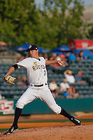 Charleston RiverDogs pitcher Justin Kamplain (26) on the mound during a game against the Hickory Crawdads at Joseph P. Riley Jr. Ballpark on May 2, 2015 in Charleston, South Carolina. Hickory defeated Charleston  4-1. (Robert Gurganus/Four Seam Images)