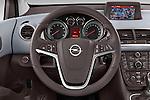Steering Wheel View 2014 Opel MERIVA Cosmo 5 Door Mini MPV 2WD Stock Photo
