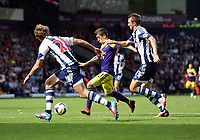 Sunday 01 September 2013<br /> Pictured:  Pablo Hernandez of Swansea (C) against Gareth McAuley (R) and Billy Jones (L).<br /> Re: Barclay's Premier League, West Bromwich Albion v Swansea City FC at The Hawthorns, Birmingham, UK.