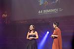 Eva Marciel and Elena Sanchez during 64 Seminci´s Cinema Festival closing gala. October 26,2019. (ALTERPHOTOS/IVAN TOME)