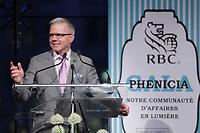 Maurice Cote<br /> ,V-P, RBC Banque Royale <br />  au Gala Phenicia de la Chambre de Commerce LGBT du Québec, tenu au Parquet de la Caisse de Depots et Placements du Quebec, jeudi, 26 mai 2016.<br /> <br /> <br /> PHOTO : Pierre Roussel -  Agence Quebec Presse