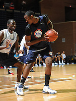 Rakeem Christmas handles the ball during the 2009 NBPA Top 100 Basketball Camp held Friday June 17- 20, 2009 in Charlottesville, VA. Photo/ Andrew Shurtleff