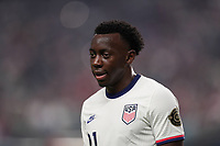 LAS VEGAS, NV - AUGUST 1: Daryl Dike #11 of the United States during a game between Mexico and USMNT at Allegiant Stadium on August 1, 2021 in Las Vegas, Nevada.
