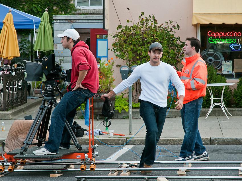 Dennis Donovan, Bob Cammisa and Phil Toran with the Red One digital cinema camera.