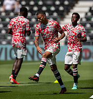 18th July 2021; Pride Park, Derby, East Midlands; Pre Season Friendly Football, Derby County versus Manchester United; Players during warm up