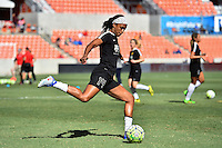 Houston, TX - Sunday Oct. 09, 2016: Jessica McDonald prior to a National Women's Soccer League (NWSL) Championship match between the Washington Spirit and the Western New York Flash at BBVA Compass Stadium.