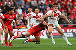 Action during the Rugby League World Cup Semi Final match between England and Tonga at Mt Smart Stadium, Auckland, New Zealand. Saturday 25 November 2017. Photo: Simon Watts/www.bwmedia.co.nz