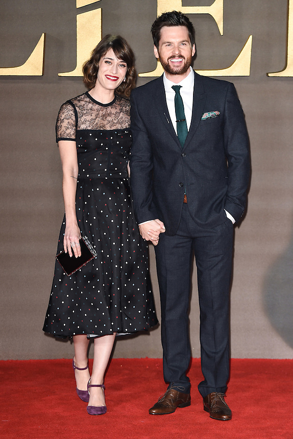 """Lizzy Caplan and Tom Riley<br /> at the """"Allied"""" UK premiere, Odeon Leicester Square, London.<br /> <br /> <br /> ©Ash Knotek  D3202  21/11/2016"""