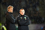 St Johnstone v Celtic..27.10.10  .Neil Lennon and Johan Mjallby.Picture by Graeme Hart..Copyright Perthshire Picture Agency.Tel: 01738 623350  Mobile: 07990 594431