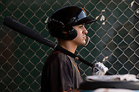 AZL Giants Black second baseman Marcos Campos (15) during an Arizona League game against the AZL Athletics at the San Francisco Giants Training Complex on June 19, 2018 in Scottsdale, Arizona. AZL Athletics defeated AZL Giants Black 8-3. (Zachary Lucy/Four Seam Images)