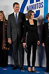 """King Felipe VI of Spain and Queen Letizia during the main event of the XV Aniversary of the """"20Minutos"""" newspaper at Headquarters of the Community of Madrid, November 24, 2015<br /> (ALTERPHOTOS/BorjaB.Hojas)"""