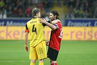Ioannis Amanatidis (Eintracht) im Gespraech mit Christian Woerns (BVB)<br /> Eintracht Frankfurt vs. Borussia Dortmund, Commerzbank Arena<br /> *** Local Caption *** Foto ist honorarpflichtig! zzgl. gesetzl. MwSt. Auf Anfrage in hoeherer Qualitaet/Aufloesung. Belegexemplar an: Marc Schueler, Am Ziegelfalltor 4, 64625 Bensheim, Tel. +49 (0) 6251 86 96 134, www.gameday-mediaservices.de. Email: marc.schueler@gameday-mediaservices.de, Bankverbindung: Volksbank Bergstrasse, Kto.: 151297, BLZ: 50960101