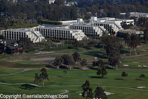 aerial photograph of the Torrey Pines Golf Course and the Hilton Torrey Pines,  La Jolla, San Diego, County, California