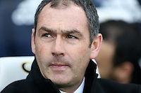 Swansea City manager Paul Clement during the Premier League match between Chelsea and Swansea City at Stamford Bridge, London, UK. Saturday 25 February 2017