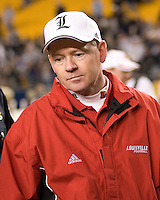 25 November 2006: Louisville Cardinals head coach Bobby Petrino..The Louisville Cardinals defeated the Pitt Panthers 48-24 on November 25, 2006 at Heinz Field, Pittsburgh, Pennsylvania.