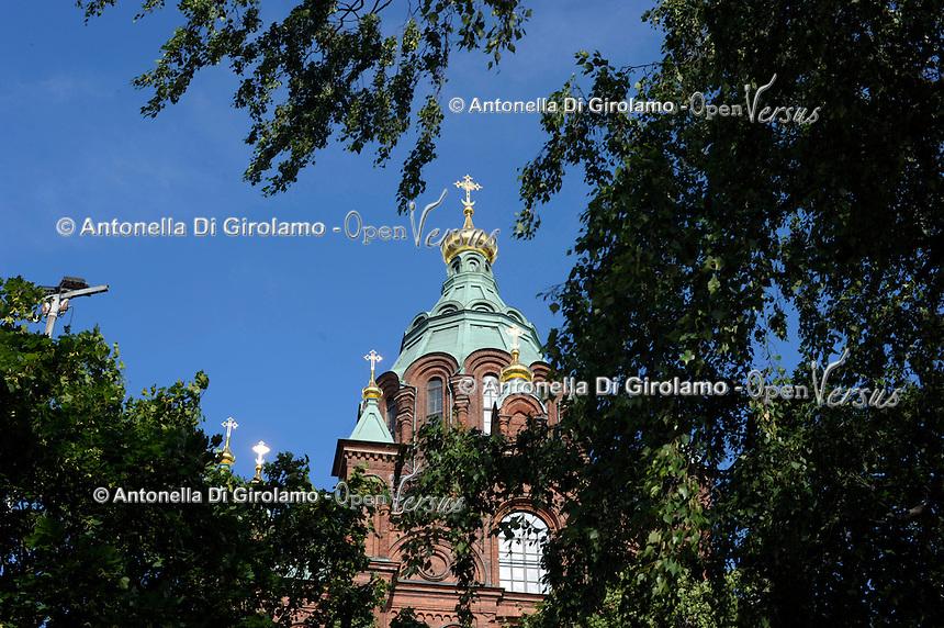 La Cattedrale Ortodossa Uspenski. The Uspenski Orthodox Cathedral.
