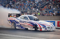 Jul, 8, 2011; Joliet, IL, USA: NHRA funny car driver Matt Hagan during qualifying for the Route 66 Nationals at Route 66 Raceway. Mandatory Credit: Mark J. Rebilas-