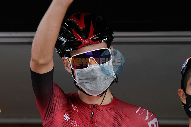 Pavel Sivakov (RUS) Team Ineos at sign on before Stage 3 of the Route d'Occitanie 2020, running 163.5km from Saint-Gaudens to Col de Beyrède, France. 3rd August 2020. <br /> Picture: Colin Flockton | Cyclefile<br /> <br /> All photos usage must carry mandatory copyright credit (© Cyclefile | Colin Flockton)