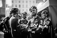 a smiling Sir Bradley Wiggins (GBR/Sky) before his 1 but last race for Team SKY<br /> <br /> 103rd Scheldeprijs 2015