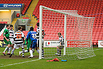 A Darlington defender handles the ball on the line in the 92nd minute, the referee didn't see it.Darlington 1 Lincoln City 1, 09/04/2007. The Darlington Arena, League Two. Photo by Paul Thompson. The Darlington Arena was a 25,000 capacity white elephant of a stadium. Darlington left Feethams for the Arena in 2003, usually playing in front of 2000 people. The cost of the arena caused the club to go into administration three times. Eventually, the club decided to leave the arena after nine years following the 2011–12 season. Darlington currently groundshare the Blackwell Meadows ground with the town's rugby club, and play in National League North.