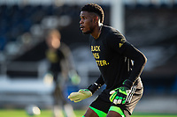 LAKE BUENA VISTA, FL - JULY 20: Andre Blake #18 of the Philadelphia Union before the game during a game between Orlando City SC and Philadelphia Union at Wide World of Sports on July 20, 2020 in Lake Buena Vista, Florida.