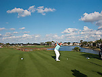 PALM BEACH GARDENS, FL. - Jeff Overton on hole 18 during Round Two play at the 2009 Honda Classic - PGA National Resort and Spa in Palm Beach Gardens, FL. on March 6, 2009.