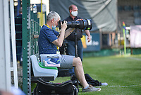 photographer Karl Holvoet pictured during a female soccer game between Eendracht Aalst and Racing Genk on the 10 th and last matchday of play off 2 of the 2020 - 2021 season of Belgian Scooore Womens Super League , Saturday 29 st of May 2021  in Aalst , Belgium . PHOTO SPORTPIX.BE | SPP | DAVID CATRY