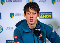 Rotterdam, The Netherlands, 12 Februari 2019, ABNAMRO World Tennis Tournament, Ahoy,  Press conference with Kei Nishikori (JPN) <br /> Photo: www.tennisimages.com/Henk Koster