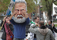 Montreal, CANADA - File - CSN Demonstration against the  austerity measures proposed  by the Quebec Liberal Goverment, Sept 6 , 2014.