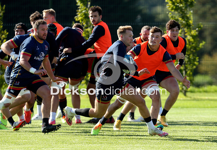 Tuesday 5th October 2021<br /> <br /> Stewart Moore during Ulster Rugby training at Newforge Country Club, Belfast, Northern Ireland. Photo by John Dickson/Dicksondigital