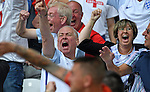 England supporters celebrate their late second goal the Stade Bollaert-Delelis in Lens, France ahead of the Euro 2016 Group B fixture between England and Wales.