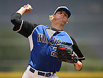 Basic's Ryne Nelson pitches against Galena High during NIAA DI baseball action at Bishop Manogue High School, in Reno, Nev., on Friday, May 20, 2016. Basic won 7-3 to advance to the championship. Cathleen Allison/Las Vegas Review-Journal