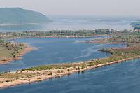 "Zhiguli mountains and ""Samarskaya Luka"" national park near the Volga river near Samara city"
