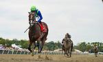 September 25, 2021: Jackie's Warrior #7, ridden by jockey Joel Rosario wins the Grade 2 Gallant Bob Stakes at Parx Racing and Casino in Bensalem, Pennsylvania on September 25th, 2021. Scott Serio/Eclipse Sportswire/CSM